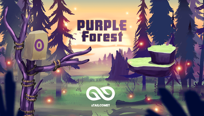 Purple Forest 2d art pack