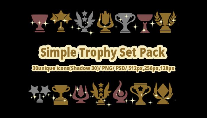 Simple Trophy Set Pack