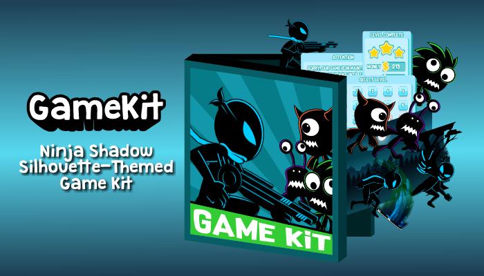 Ninja Shadow Silhouette-Themed Game Kit