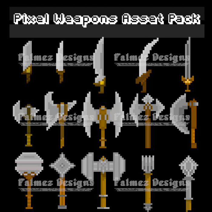 Pixel Art Weapon Pack 1