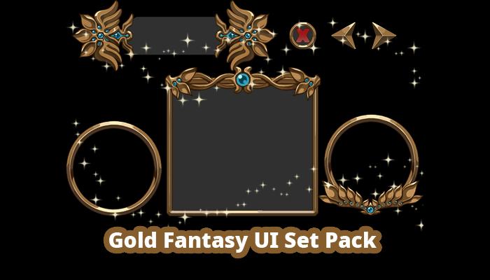 Gold Fantasy UI Pack