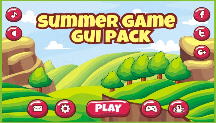 summer game gui pack