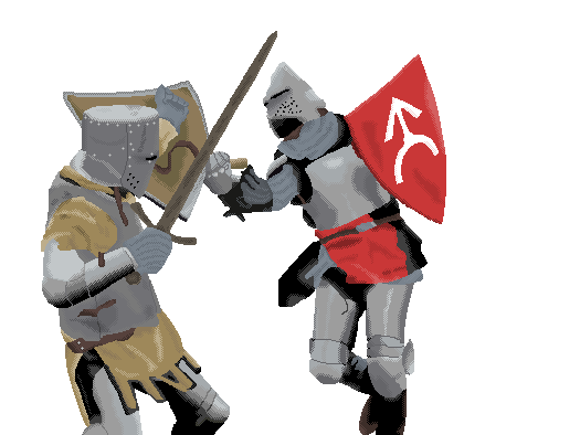 Knights fighting – sword duel