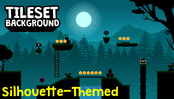 Silhouette Shadow Tileset and Background