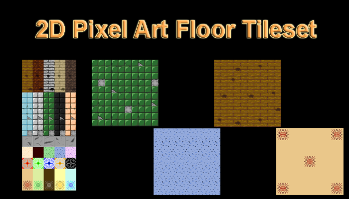2D Pixel Art Floor Tileset