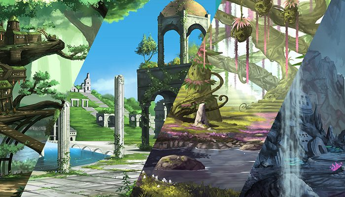 Pack of 4 Fantasy High Quality Parallax Backgrounds