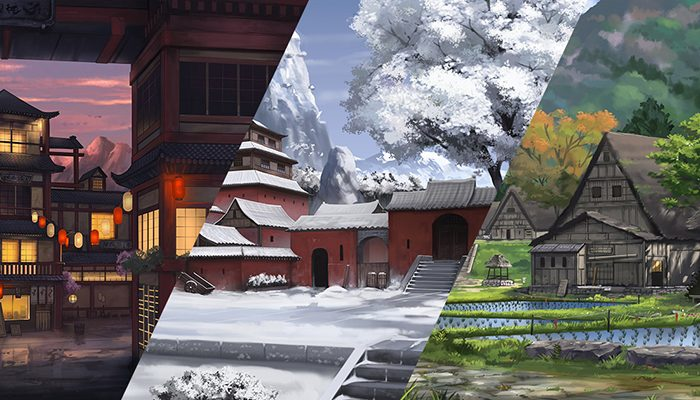 Pack of 3 Eastern Style Parallax Backgrounds