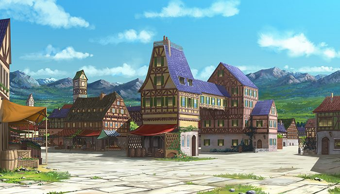 Quiet Small Town – High Quality Parallax Background