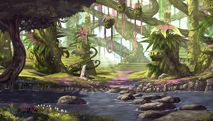 Fantasy Forest Town – High Quality Parallax Background