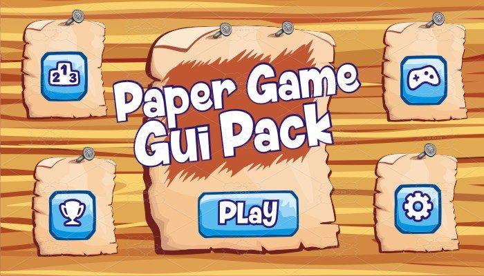 paper game gui pack