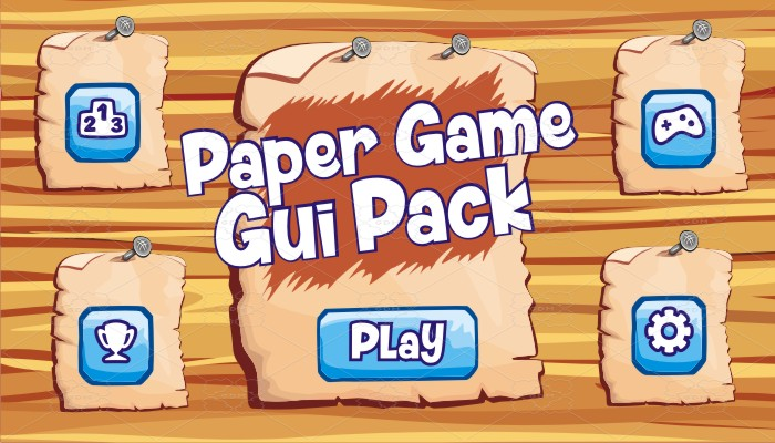 paper game gui pack