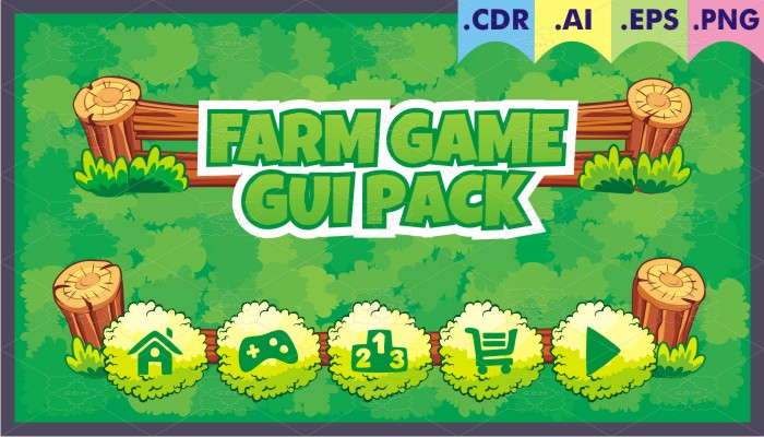 farm game gui pack