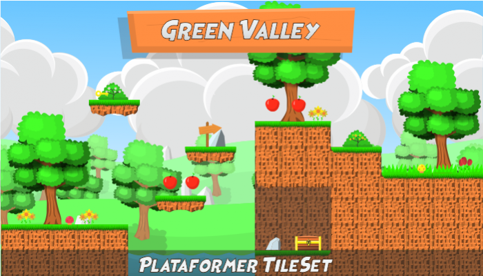 Green Valley Plataform Tileset