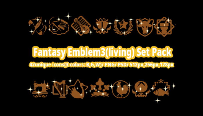 Fantasy Emblem3(living) Set Pack