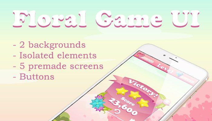 Floral Game UI