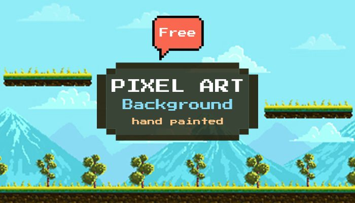 Pixel Art Game Background