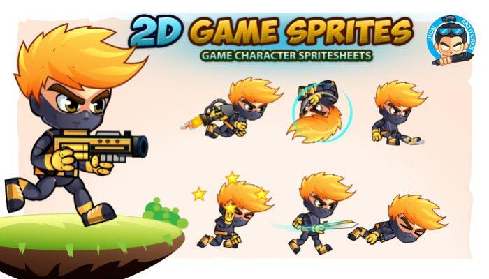 Ninja Game Character Sprites