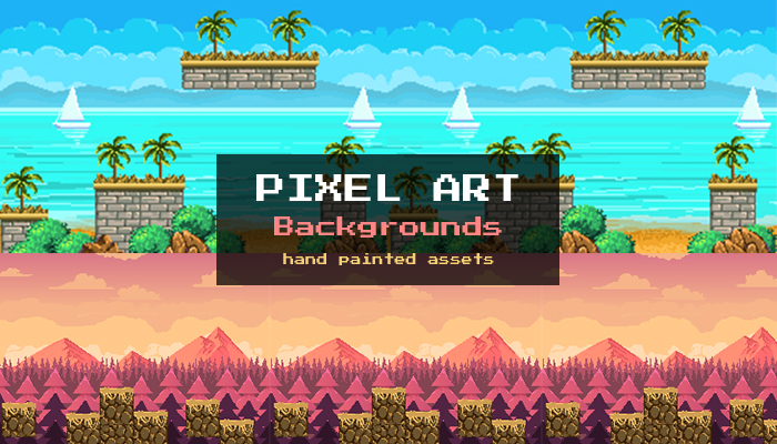 Pixel Art Game Backgrounds