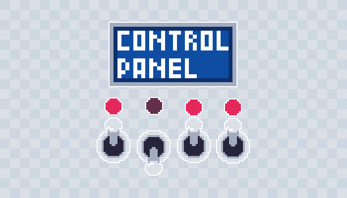 Control Panel Pixel art Asset Pack