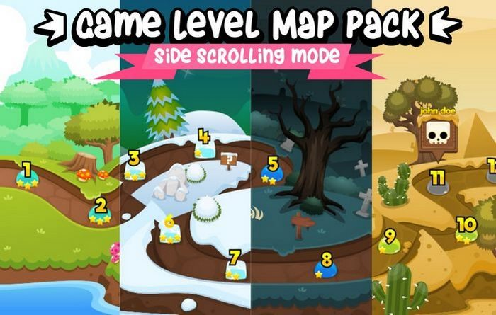 Game Level Map Pack – Side Scrolling