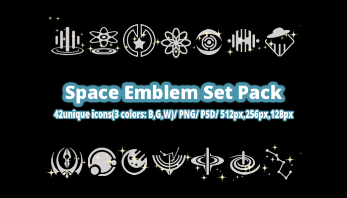 Space Emblem Set Pack