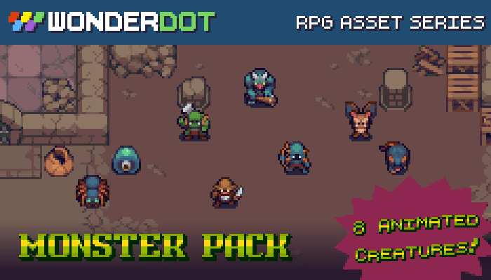 RPG Monster Pack – Animated
