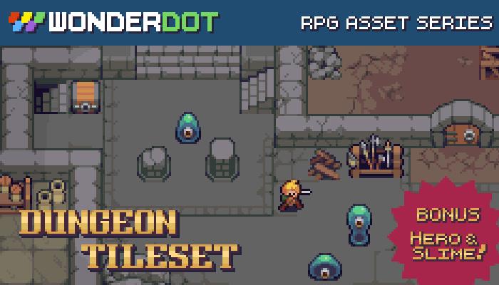 RPG Dungeon Tileset plus 2 Bonus Characters