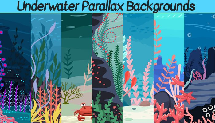 2d Underwater Parallax Backgrounds
