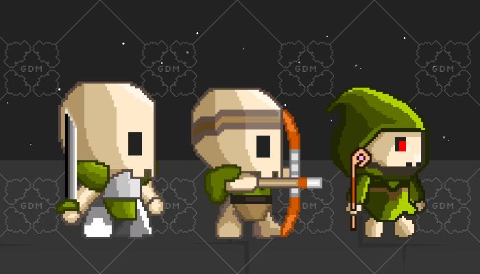 2D Pixel Monsters, 5 pieces