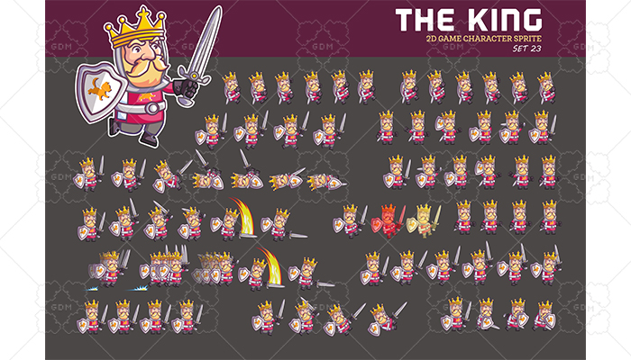 MEDIEVAL KING SPRITE