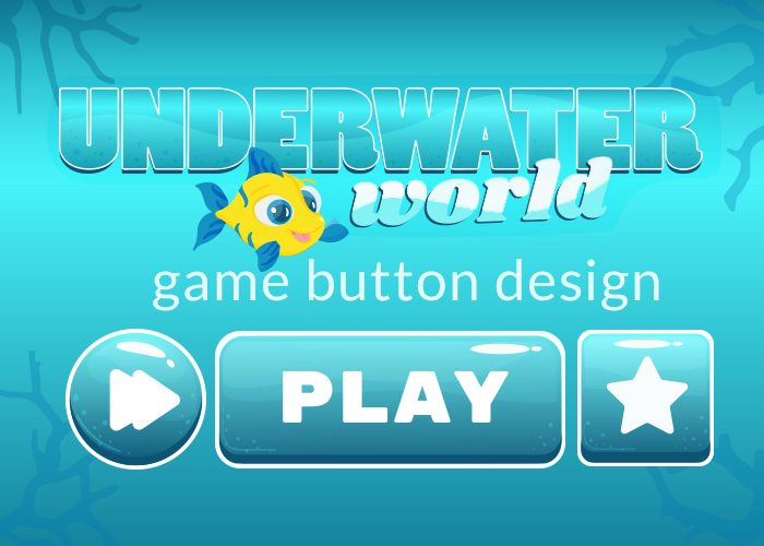 Underwater World Game Buttons Design