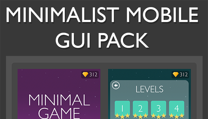 Minimalist Mobile Game GUI Pack