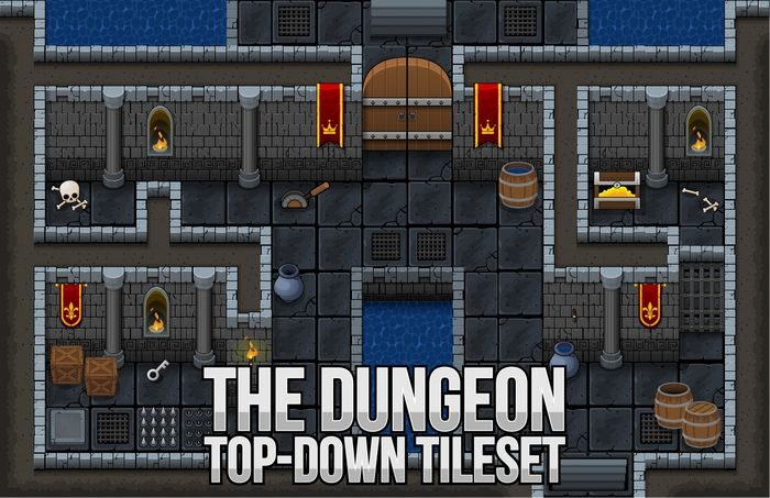 The Dungeon – Top Down Tileset