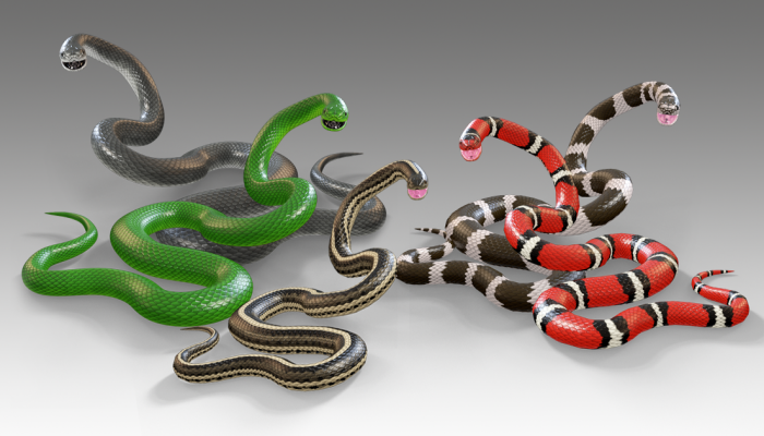 Animated Snakes PBR Vol.1