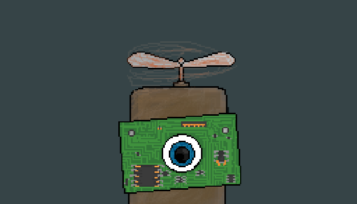 Hovering Robot Character