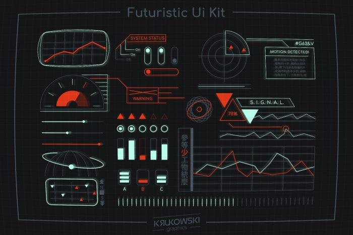 Sci Fi Spaceship Interface HUD