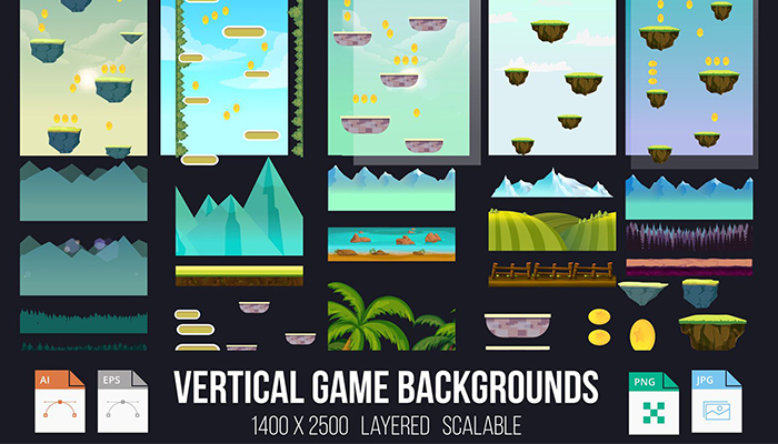 Vertical Game Backgrounds