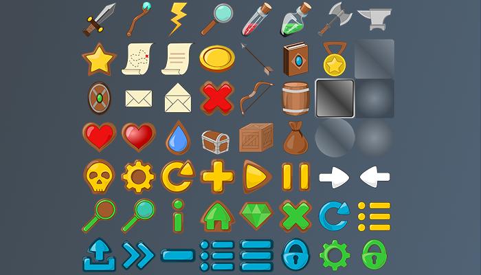Fantasy UI Icons Pack (190+ Sprites)