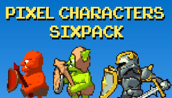 Pixel Characters SIXPACK!
