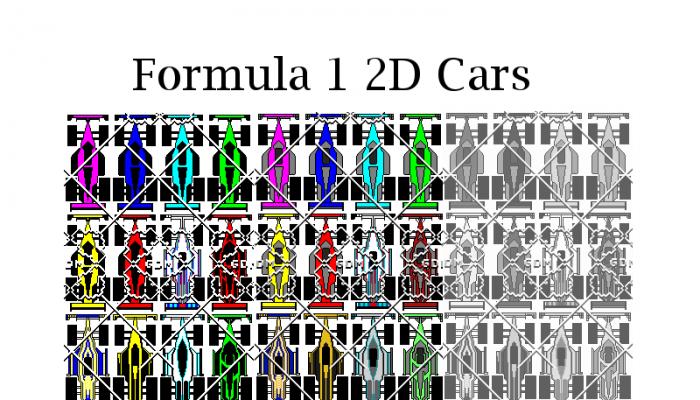 2D Formula 1 Cars