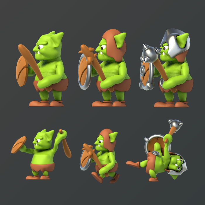 Goblin Cartoon – Side View