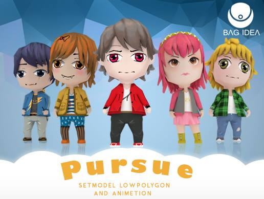 3D Game Characters low-polygon