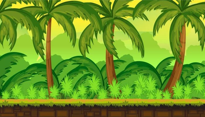 Tropical Jungle Game Background