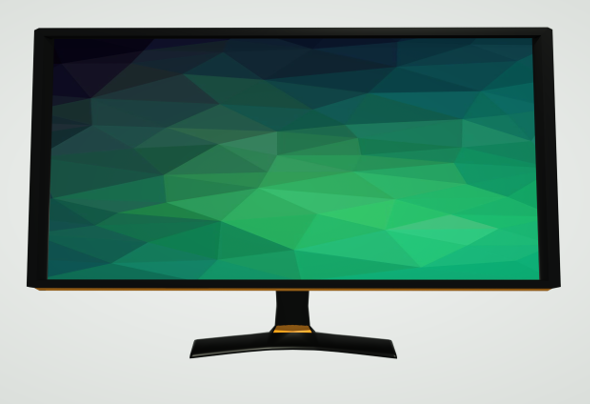 Low Poly Modern Monitor