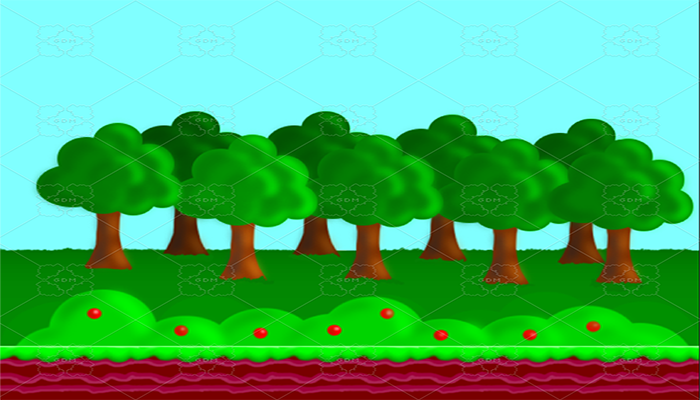 Platform game background and tiles