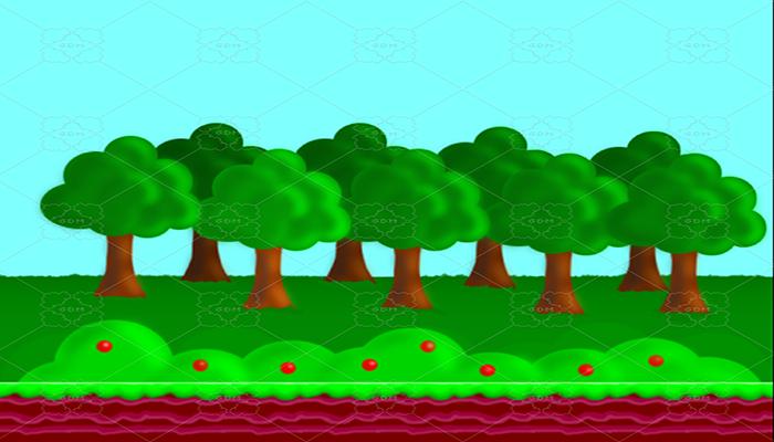 Platform game background and tiles