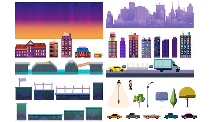 Night City Game Level Kit