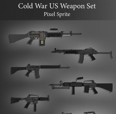 Cold War US Weapon Set