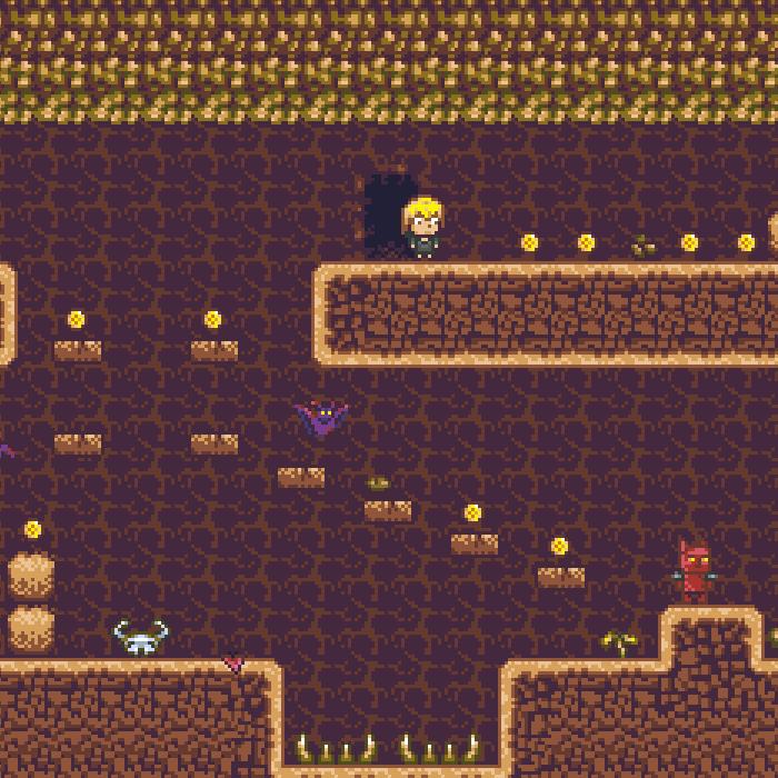 Pixel Platformer Cave Kit