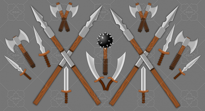 weapons collection 2d